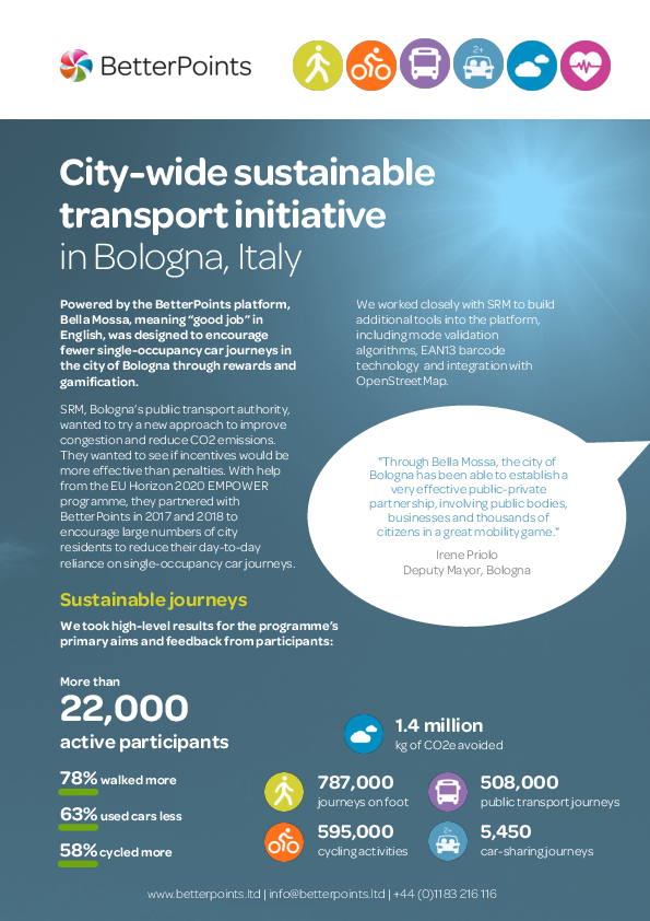 City-wide sustainable transport initiative in Bologna, Italy