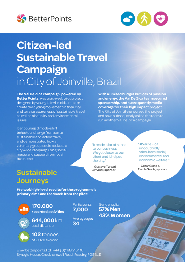 Citizen-led Sustainable Travel Campaign in Joinville, Brazil