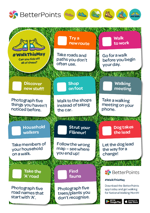 National Walking Month checklist