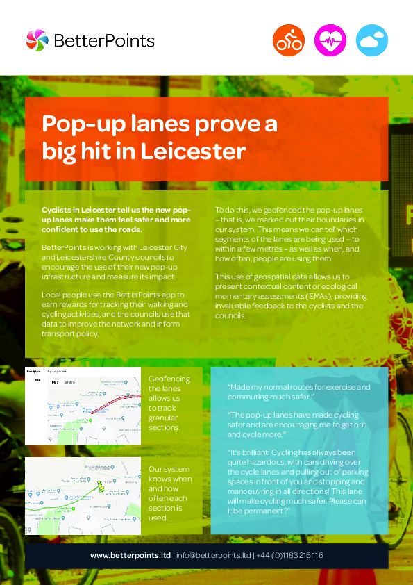 Pop-up lanes prove a big hit in Leicester