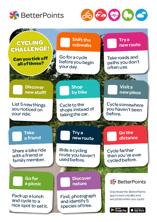 Cycling challenge checklist