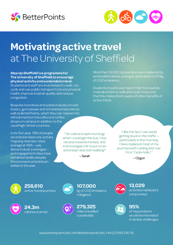 Motivating Active Travel at The University of Sheffield